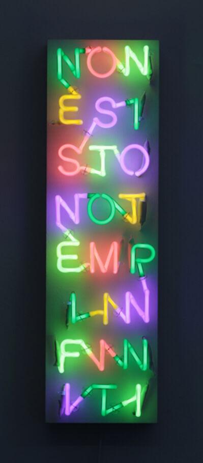 Albert Hien, 'NONESISTONOTEMPIINFINITI', 2013
