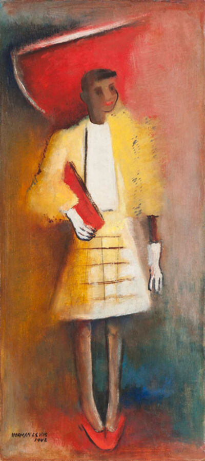 Norman W. Lewis, 'Untitled (Woman in Red Hat)', 1942