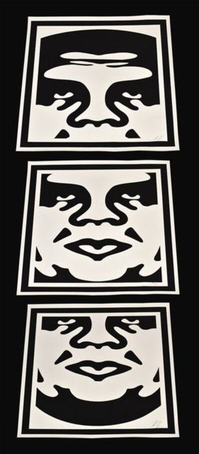 Shepard Fairey, 'Obey 3 Face's ', 2005