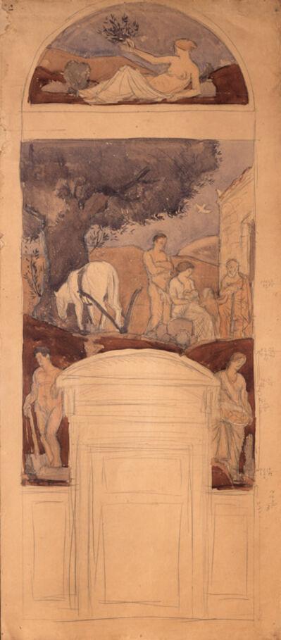 """Joaquín Torres-García, 'Design for the fresco """"L'Edat d'Or de la Humanitat"""" (The golden age of humanity)', 1914"""