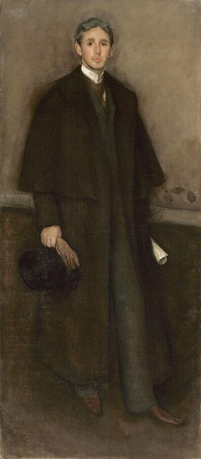 James Abbott McNeill Whistler, 'Portrait of Arrangement in Flesh Color and Brown: Portrait of Arthur Jerome Eddy', 1894