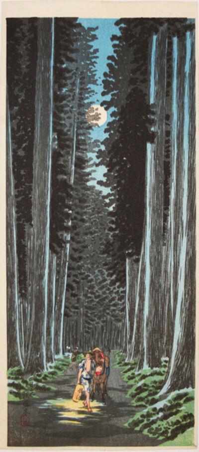 Hiroaki Takahashi (Shotei), 'Cryptomeria Road in Nikko', ca. 1936
