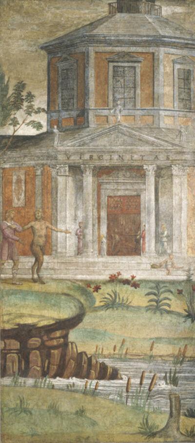 Bernardino Luini, 'Cephalus and Pan at the Temple of Diana', ca. 1520/1522