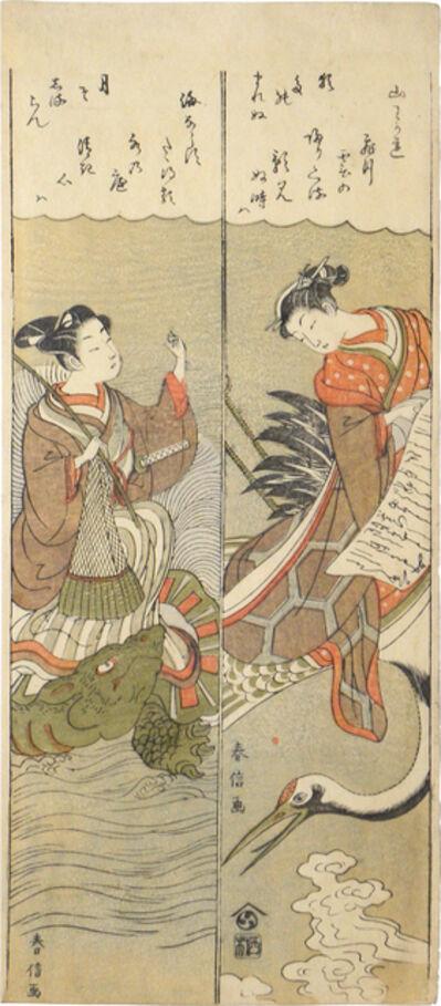 Suzuki Harunobu, 'Parodies of Hichobo and Urashima Taro', ca. 1770