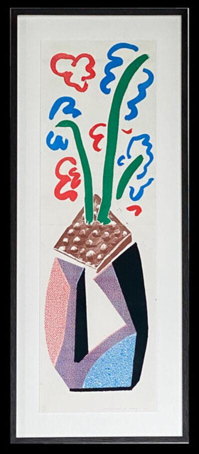 David Hockney, 'Red Blue & Green Flowers', 1986