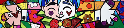 Romero Britto, 'Big Hug | hand embellished', 2019