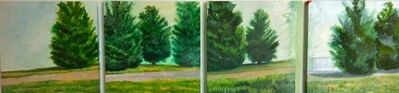 Ellen Sinel, 'Four Evergreen Trees '