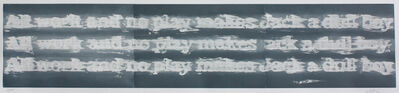 Gary Simmons, 'All Work and No Play', 2011