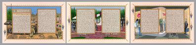 Sandow Birk, 'American Qur'an: Sura 33 A-C, triptych', 2014