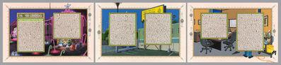Sandow Birk, 'American Qur'an: Sura 39 A-C, triptych', 2013