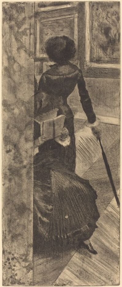 Edgar Degas, 'Mary Cassatt at the Louvre: The Paintings Gallery (Au Louvre: La Peinture)', ca. 1879/1880