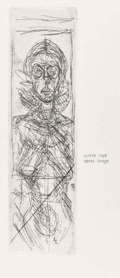 Alberto Giacometti, 'Annette De Face', 1956