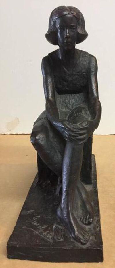 Akop Gurdjan, 'Sitting Girl, Barbedienne, Paris Art Deco Bronze by Akop Gurdjan', Early 20th Century
