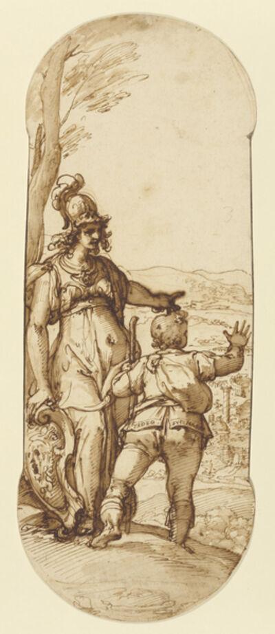 Federico Zuccaro, 'Pallas Athena Shows Taddeo the Prospect of Rome', 1595