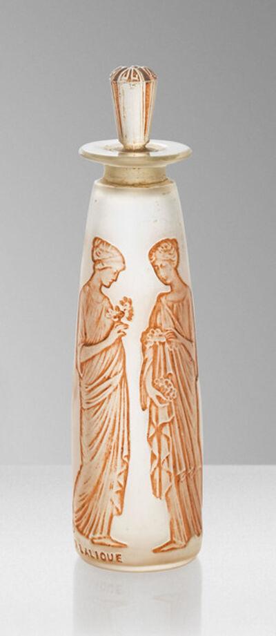 René Lalique, ''Ambre Antique', a Coty - 3 scent bottle', designed 1910