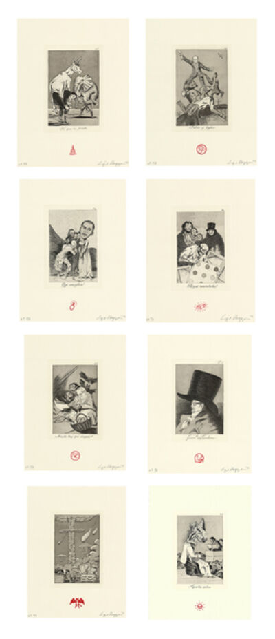 Enrique Chagoya, 'Recurrent Goya (suite of 8)', 2012