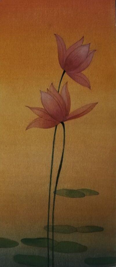 Abdur Rahman Chughtai, 'Lotus Pond', ca. 1940