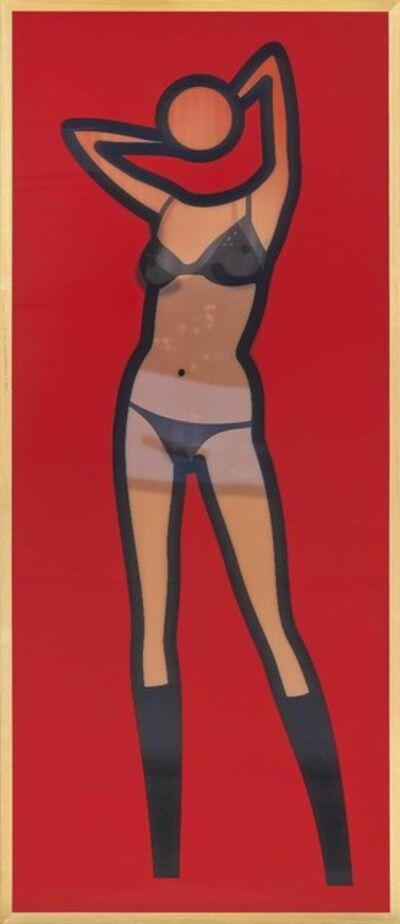 Julian Opie, 'Sara Gets Undressed (Lenticular)', 2004