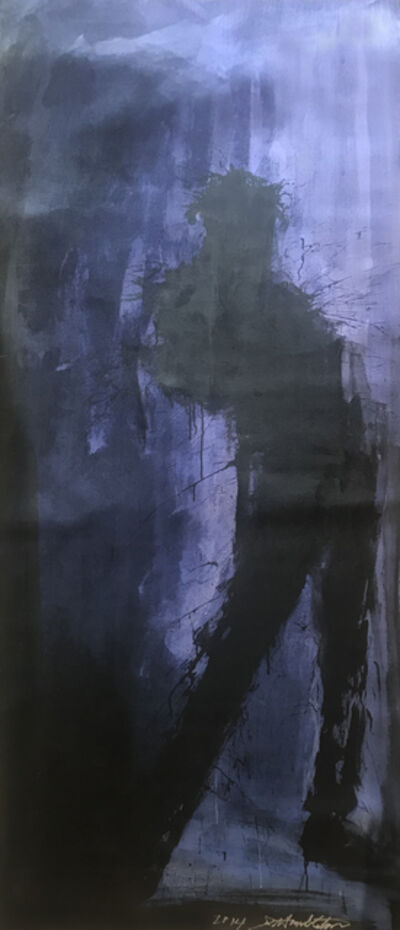 Richard Hambleton, 'Standing Shadow on Blue Background ', 2014