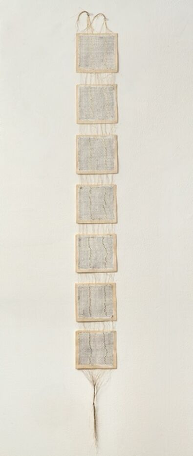 Greta Schödl, 'Untitled (Faeden zwischen Papier - Wires between the Paper)', 1994