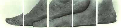 John Coplans, 'Selfportrait (five panels feet)', 1988