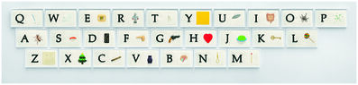John Baldessari, 'A B C Art (Low Relief): A/Ant, Etc. (Keyboard)', 2009