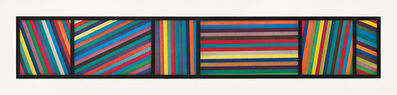 Sol LeWitt, 'Bands of Color in Different Directions, Diptych', 1996