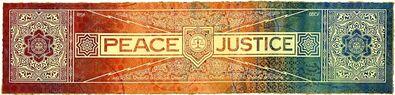 Shepard Fairey, 'Peace & justice risk hpm', 2013