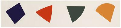 Ellsworth Kelly, 'Purple Red Gray Orange', 1988