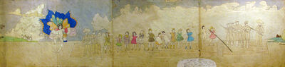 Henry Darger, 'Violet and her sister are captured on the river', ca. 1950