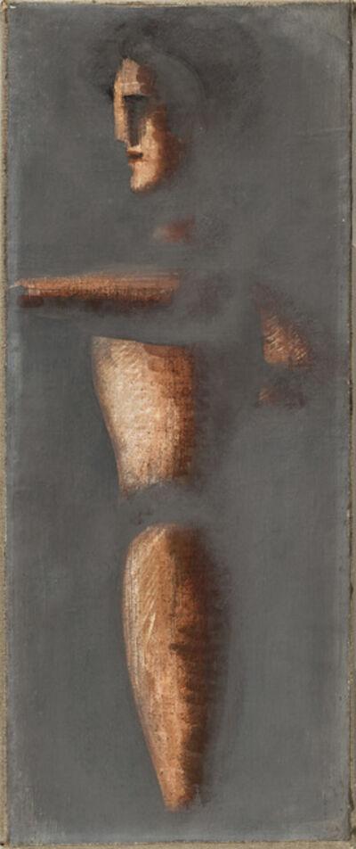 Oskar Schlemmer, 'Figur auf grauem Grund', 1928