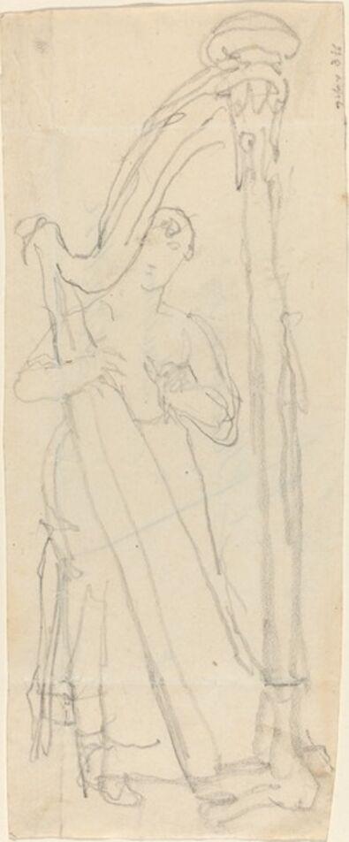 John Flaxman, 'Woman Playing a Harp'