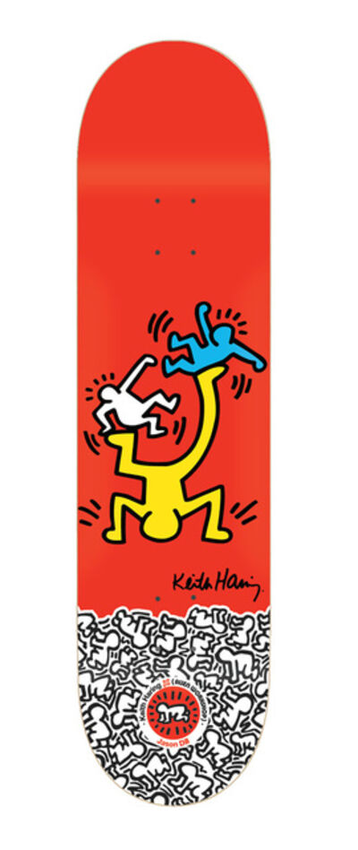 Keith Haring, 'Keith Haring Skateboard Deck (Red)', ca. 2011