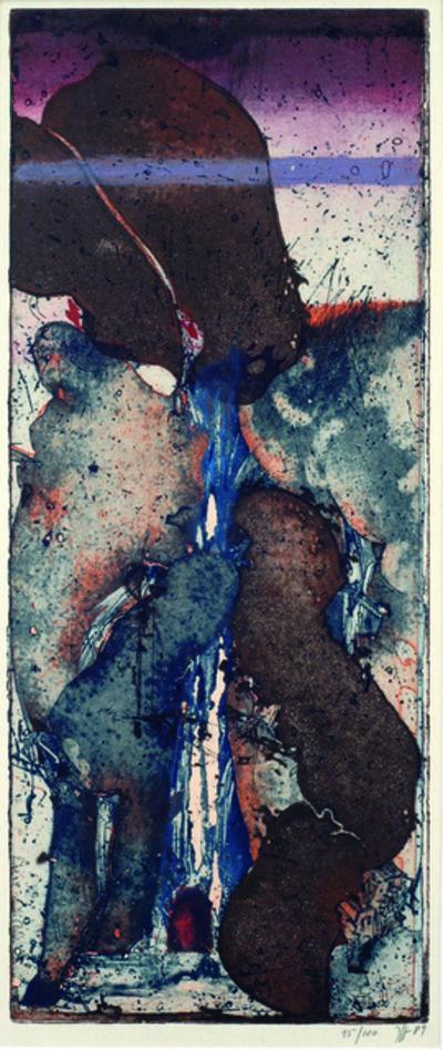 Horst Janssen, 'Wasserfall (Waterfall)', 1989