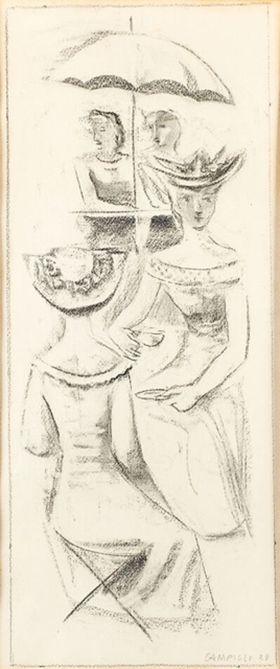 Massimo Campigli, 'Untitled (Women Having Tea)', 1938