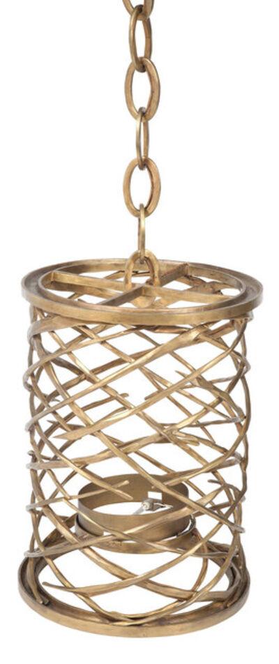 Hervé van der Straeten, 'Pair of Hervé van der Straeten Bronze Lustre Toubillon Hanging Lanterns, For Ralph Pucci'