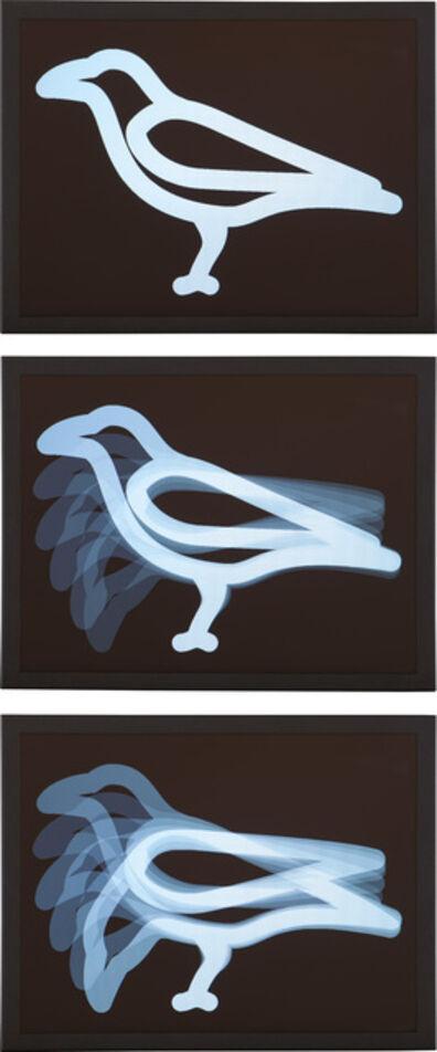 Julian Opie, 'Crow Pecking', 2018