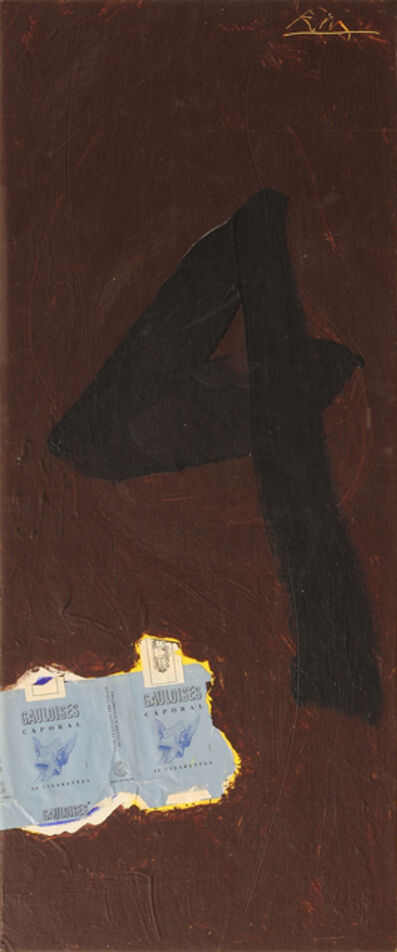 Robert Motherwell, 'Untitled (In Brown with Gauloises and the Figure 4)', 1972