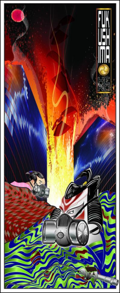 Billy Ma, 'Fukushima Hero – Night', 2011