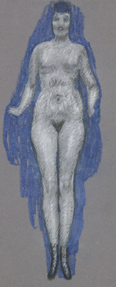 Alfons Walde, 'Nude against a Blue Background', ca. 1919