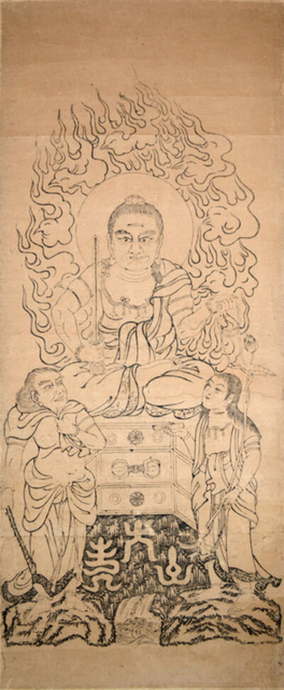 Unknown, 'Fudo Myoo with Seitaka and Kongara'