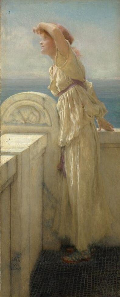Sir Lawrence Alma-Tadema, 'Hopeful', 1909