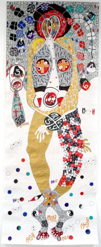 Ernest Dükü, 'Foot prints, Ace of spade @ YA FO LOGO', 2018