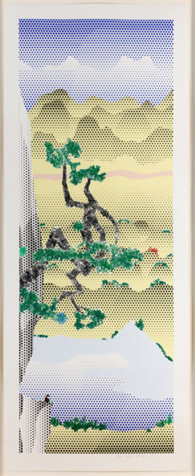 Roy Lichtenstein, 'Landscape with Poet', 1996