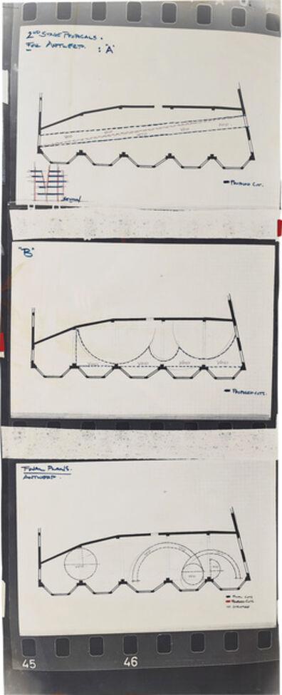 Gordon Matta-Clark, '2nd Stage Proposals for Antwerp (with Final Plans)', 1977