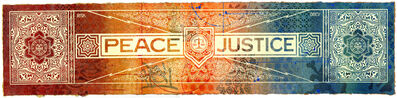Shepard Fairey, 'Peace & Justice Collaboration', 2013