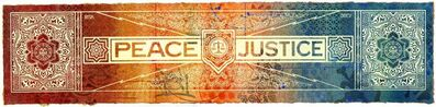 Shepard Fairey (OBEY), 'Peace & Justice', 2013