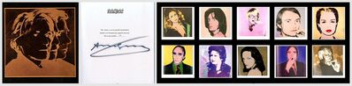 Andy Warhol, 'Portraits of the 1970s (Hand Signed and numbered by Andy Warhol, Deluxe Limited Edition boxed gift set)', 1979