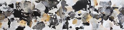 Julia Nee Chu, 'Black, White, Gray, and Gold'