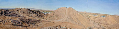 Rackstraw Downes, 'Presidio: In the Sand Hills Looking West with ATV Tracks & Cell Tower', 2012
